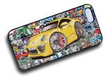 Koolart STICKERBOMB STYLE Design For Porsche 911S Hard Case Cover Fits Apple iPhone 4 & 4s